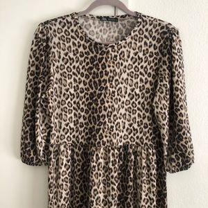 Zara Leopard MIDI Dress